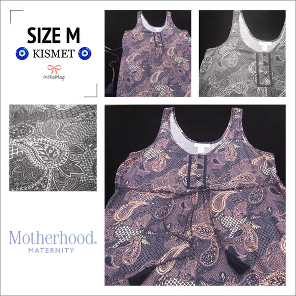 MOTHERHOOD MATERNITY Women's Medium Paisley Print Viscose Blouse
