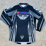 Men's SUZUKI Motorcycle Street Bike Riding Jersey Shirt SIZE SMALL