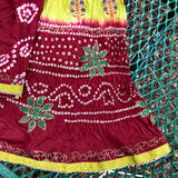 Indian Pakistani Girl 2 Piece Handmade Lehenga Choli Skirt Outfit, Child Size 30