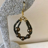 Artisan Crafted Beaded Drop Loop Earrings