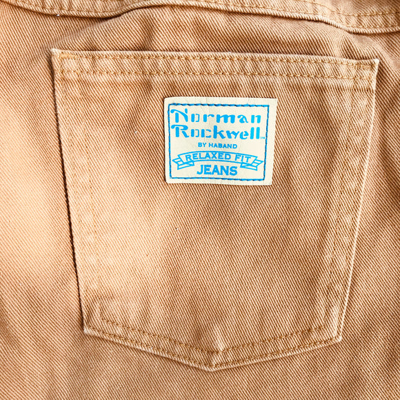 NORMAN ROCKWELL BY HABAND Men's Burnt Orange Jeans, Size 44 Short