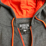 Brooklyn Express Men's Gray Sleeveless Hoodie, Size XL