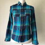 AEROPOSTALE Signature Women's Button Down Plaid Shirt, Size XS