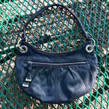 "B MAKOWSKY Women's Black Genuine Leather Hobo Purse, Size 8"" x 14"""