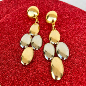 Gold & Silver Tone Chandelier Drop Earrings