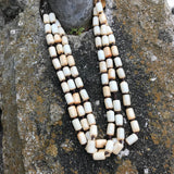 Artisan Crafted Tri-Layer Stone Beaded Necklace
