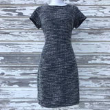 BANANA REPUBLIC Women's Size 6 Black & White Career Lined Shift Dress