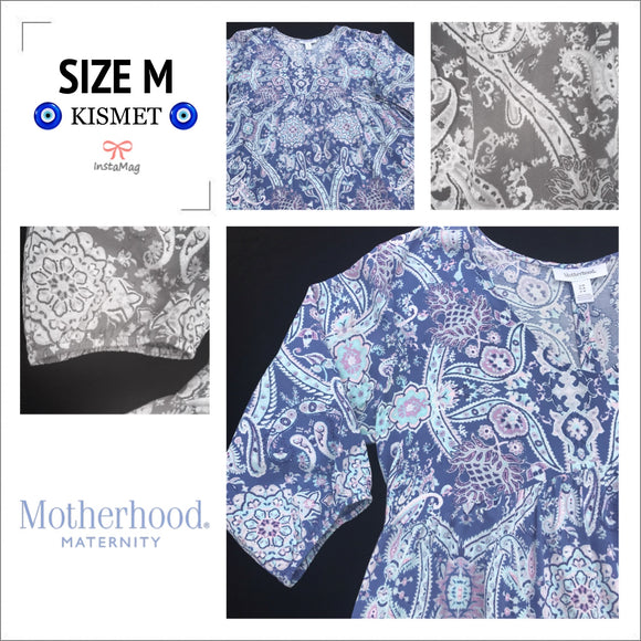 MOTHERHOOD MATERNITY Women's Size Medium Paisley Print Blouse