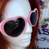 Vintage Retro Pink Lolita Heart Shaped Sunglasses