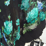 Bobbie Brooks Plus Size Black Chiffon Floral Blouse, Size 1X