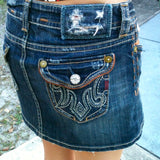 MEK Denim USA Mini Skirt, Size 28W