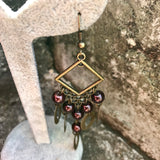 "Boho Chic 2.5"" Beaded Chandelier Earrings"
