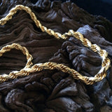 "Vintage Exquisite Gold Tone Rope Chain 20"" Matinee Necklace"