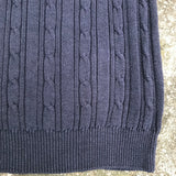 AMERICAN OUTPOST MEN'S Navy Blue Pullover 100% Cotton Sweater, Size M