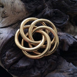 "NAPIER Signed Vintage Gold Tone Knot 1.5"" Pin Brooch"