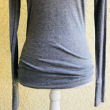 HOLLISTER Women's Gray 100% Cotton Top, Size XS