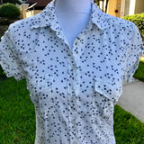 H&M LOGG LABEL OF GRADED GOODS Women's 100% Cotton White Button Shirt, Size 4