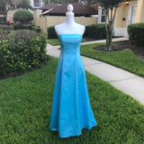URBAN GIRL NITES Simple Sky Blue Formal Bridal Prom Dress Gown, SIZE 5/6