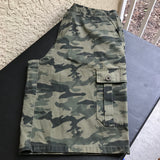 RIVER ROCK Men's Green Camouflage Cargo Shorts, Size 34