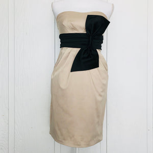 I.N. San Francisco Satin Feel Ribbon Dress, Size 3