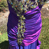 Women's Gorgeous Aurora Borealis Hi-Low Formal Gown Pageant Dress, Size Large / XL