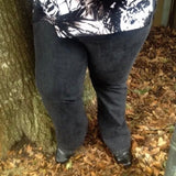 Gold Flava Plus Size Black Stretch Jeans, Size 3X / 24