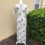 STUDIO C Women's Gorgeous Floral Maxi Stretch Dress, Size 14