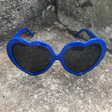 Vintage Style Retro Blue Heart Shaped Sunglasses