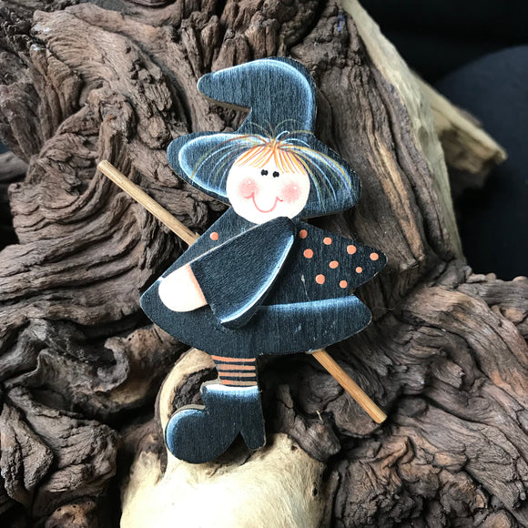 Witch Halloween Brooch or Hat Pin