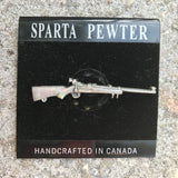 Sparta Pewter Artisan Handcrafted in Canada Rifle Pin