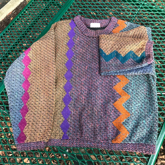 ALLEN WAH MEN'S Vintage Knit Sweater, Size M