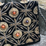 Vintage Embroidered Velvet Evening Purse