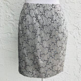 Gantos Grey Asian Motif Wrap Mini Skirt, Size 4