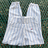 ALLESON ATHLETIC Gray & Blue Striped Baseball Pants, Size Youth Small