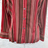 Fred David Petite Stripe Button Blouse, Size PS