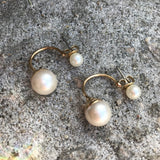 Timeless Double Studded Imitation Pearl Earrings