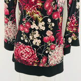 JTB Floral Pleated Blouse, Size M