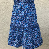 MOSSIMO Women's Blue Floral 100% Rayon Summer Dress, Size XS