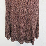 CAbi Carole Anderson Brown Lace A-Line Skirt, Size M