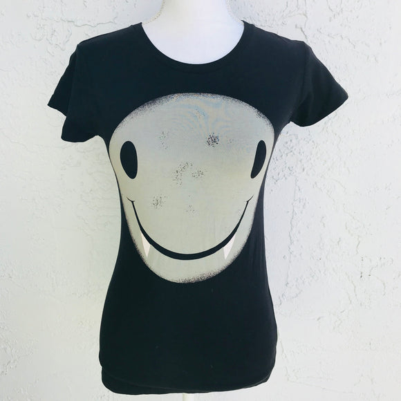 Piper & Blue Vampire Smiley Novelty Cotton T-Shirt, Size M