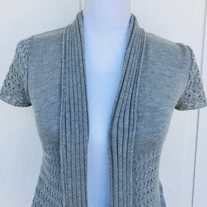 SayWhat Grey Knit Pullover Top, Size S