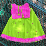 Indian Pakistani Girl Lehenga Choli Traditional Costume Beaded Skirt Set, Child Size 29