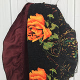 "Gorgeous Orange Rose Floral Stretch Shawl Scarf, Large 27"" x 119"""