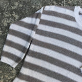 KIM ROGERS Women's Striped Cotton Blend Sweater, Size Medium