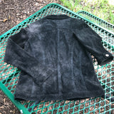 FOR JOSEPH Women's 100% Suede Black Jacket, Size Small