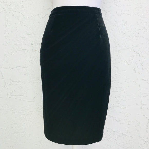 R&K Evening Black Velvet Dress Skirt, Size 8P