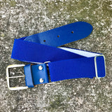 "BASEBALL PANTS BELT Elastic Blue, Size Small 1.5"" x 31"""