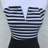 Goodtime USA Black Striped Top Dress, Size Medium