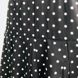 Jeanette Vintage Pleated Polka Dot Skirt, Size Medium