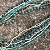 Multi-Layer Beaded Tribal Statement Choker Necklace